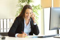 Telefonberatung eines Klienten